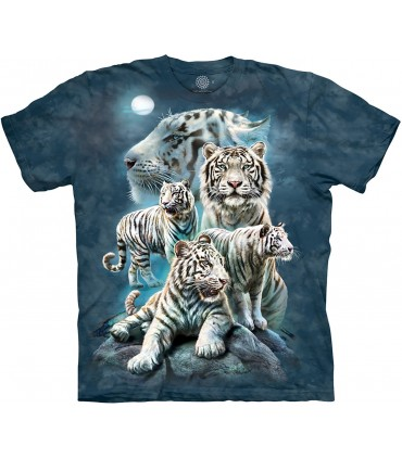 The Mountain Night Tiger Collage Big Cat T Shirt