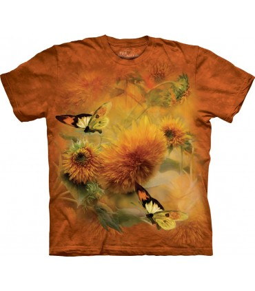The Mountain Unisex Sunflowers & Butterflies T Shirt