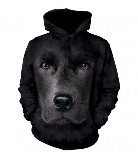 Sweat-shirt à capuche Labrador Noir The Mountain