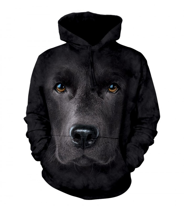 The Mountain Unisex Black Lab Face Hoodie