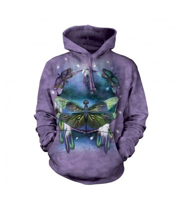 Dragonfly Dreamcatcher Adult Hoodie