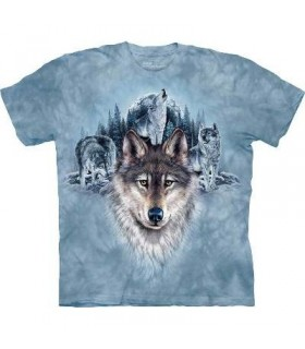 Blue Moon Wolves - Wolf T Shirt by the Mountain
