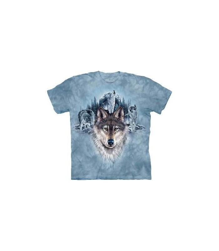 T-Shirt les loups de la lune bleue par The Mountain