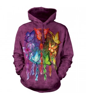 The Mountain Rainbow Butterfly Dreamcatcher Hoodie