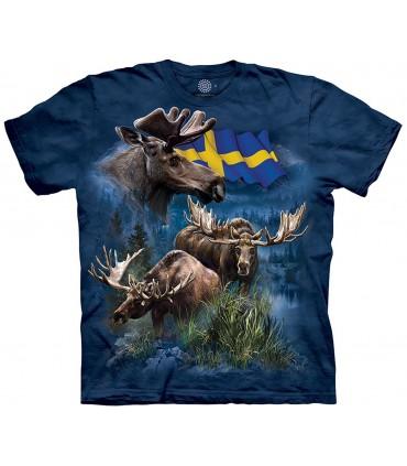 The Mountain Unisex Swedish Moose Collage T Shirt