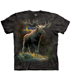 The Mountain Unisex Swedish Pride Moose T Shirt