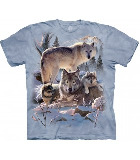Wolf Family Mountain T Shirt