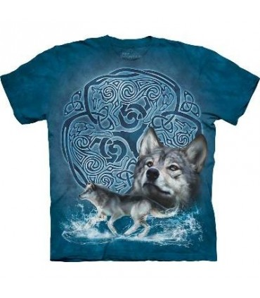 Celtic Wolf - Animals T Shirt by the Mountain