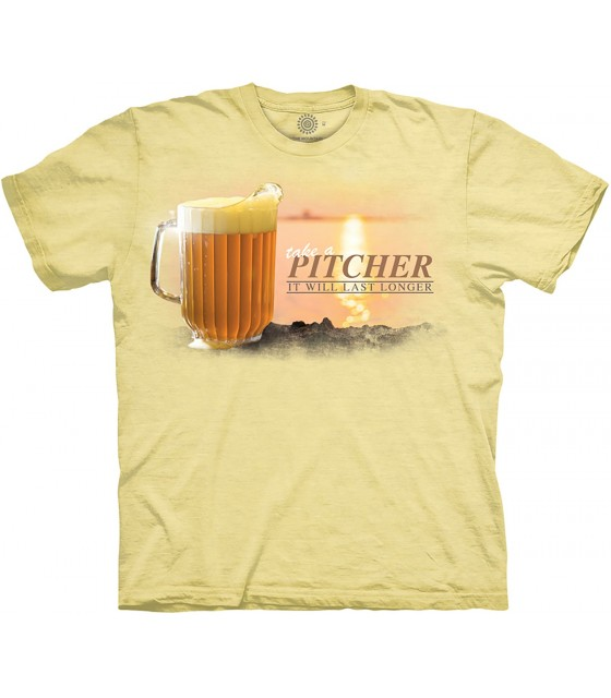 91de3d9f The Mountain Take a Pitcher Brew Life T Shirt