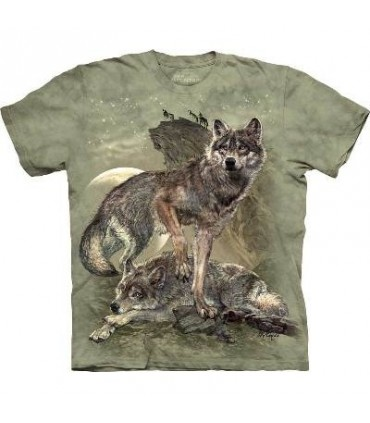 Defending the Pack - Wolf T Shirt by the Mountain