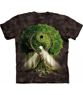 Tee-shirt Arbre Yin Yang Noir The Mountain