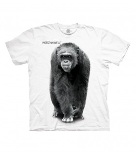 The Mountain Chimp Protect My Habitat T Shirt