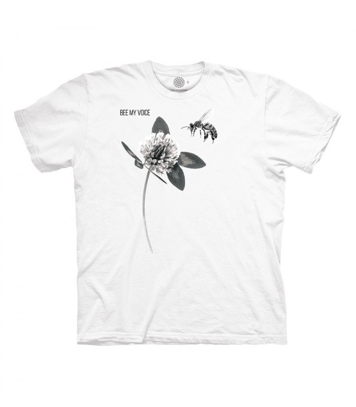 The Mountain Clover Bee My Voice White TShirt