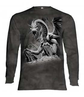 Tee-shirt manche longue motif Dragon Noir