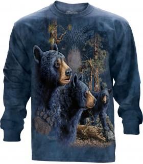 Longsleeve T-Shirt with Find 13 Black Bears design