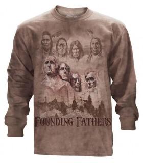 Tee-shirt manches longues motif Pères Fondateurs