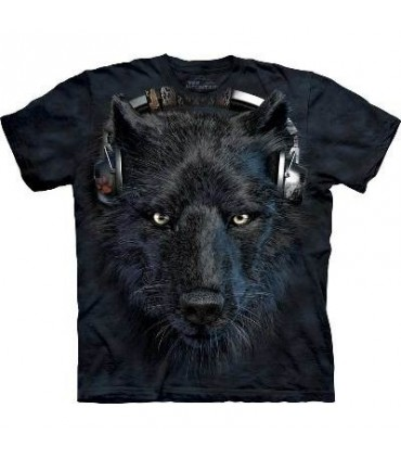 DJ Night - Wolf T Shirt by the Mountain