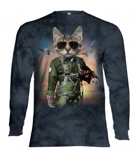 Tee-shirt manches longues motif Tom Cat