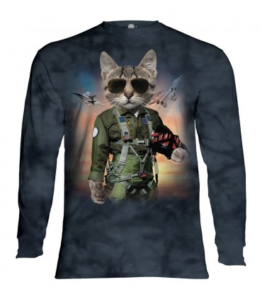 Longsleeve T-Shirt with Tom Cat design