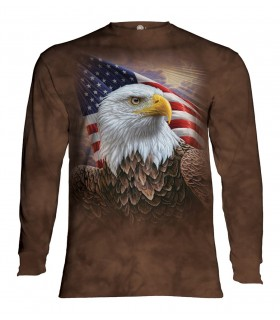 Longsleeve T-Shirt with Independence Eagle design