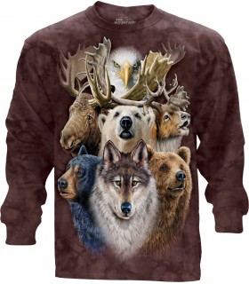 Longsleeve T-Shirt with Northern Wildlife design