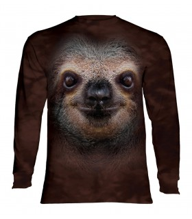 Longsleeve T-Shirt with Sloth Face design