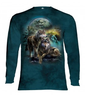 Longsleeve T-Shirt with Wolf Lookout design