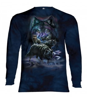 Longsleeve T-Shirt with Wolf Pack design