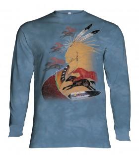 Tee-shirt manches longues motif Vision du cheval pour l'avenir