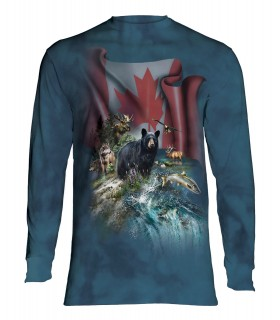Tee-shirt manches longues motif Canada le Magnifique