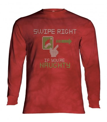 Longsleeve T-Shirt with Swipe Right Naughty design