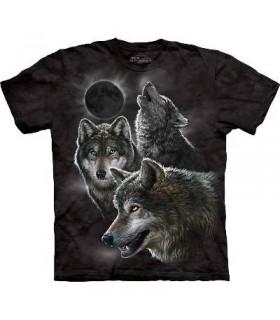 T-Shirt Eclipse et Loups par The Mountain