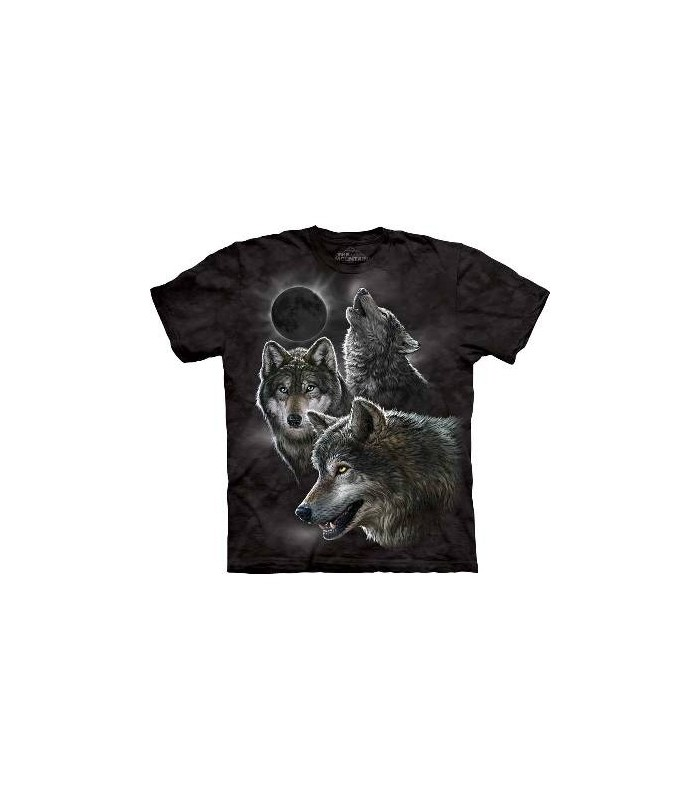T-Shirt Eclipse et Loups par The Mountain