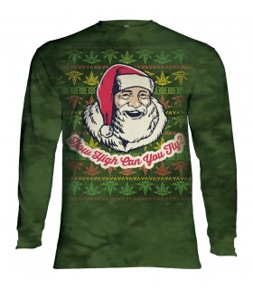 Longsleeve T-Shirt with Fly High Santa design