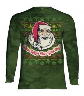Tee-shirt manches longues motif Père Noël