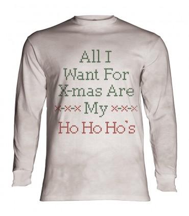 Longsleeve T-Shirt with Ho Ho Ho's design