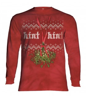 Longsleeve T-Shirt with Mistletoe Hint design