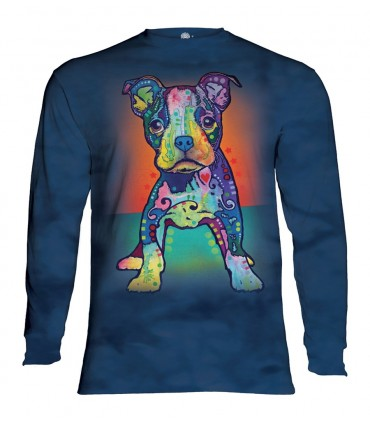 Longsleeve T-Shirt with colorful dog design
