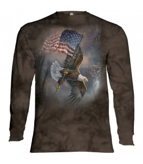 Longsleeve T-Shirt with Flag Bearing Eagle design