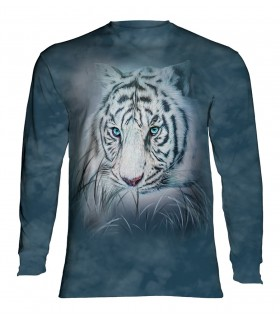 Tee-shirt manches longues motif Tigre blanc attentionné