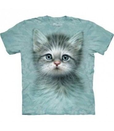 Blue Eyed Kitten - Cats T Shirt by the Mountain