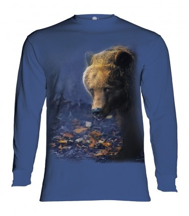 Longsleeve T-Shirt with Foraging Bear design