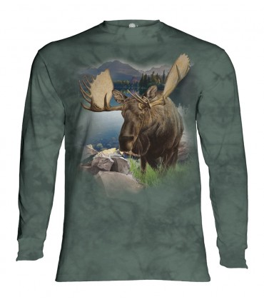 Longsleeve T-Shirt with Moose design