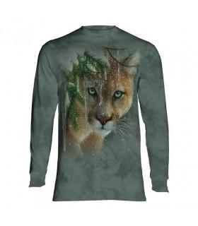 Tee-shirt manches longues motif Puma