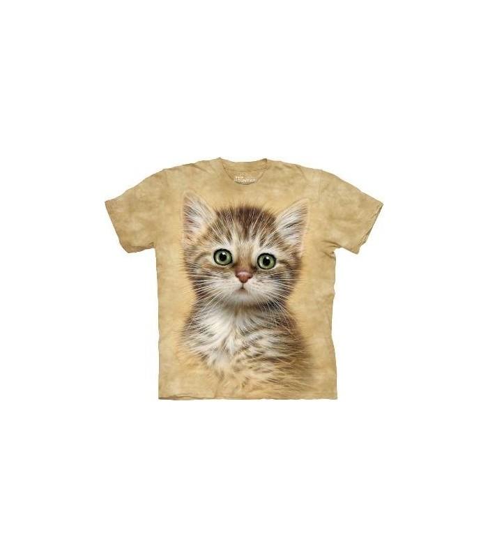 T-Shirt Chaton brun rayé par The Mountain