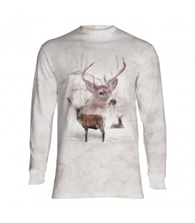 Tee-shirt manches longues motif Cerf