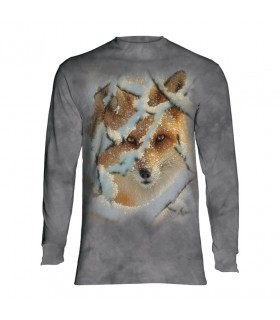 Tee-shirt manches longues motif Renard