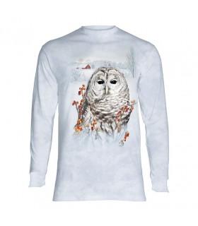 Tee-shirt manches longues motif Chouette