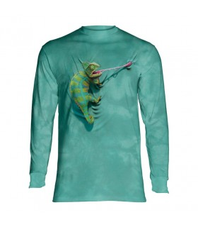 Longsleeve T-Shirt with Climbing Chameleon design