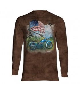 Tee-shirt manches longues motif Biker américain